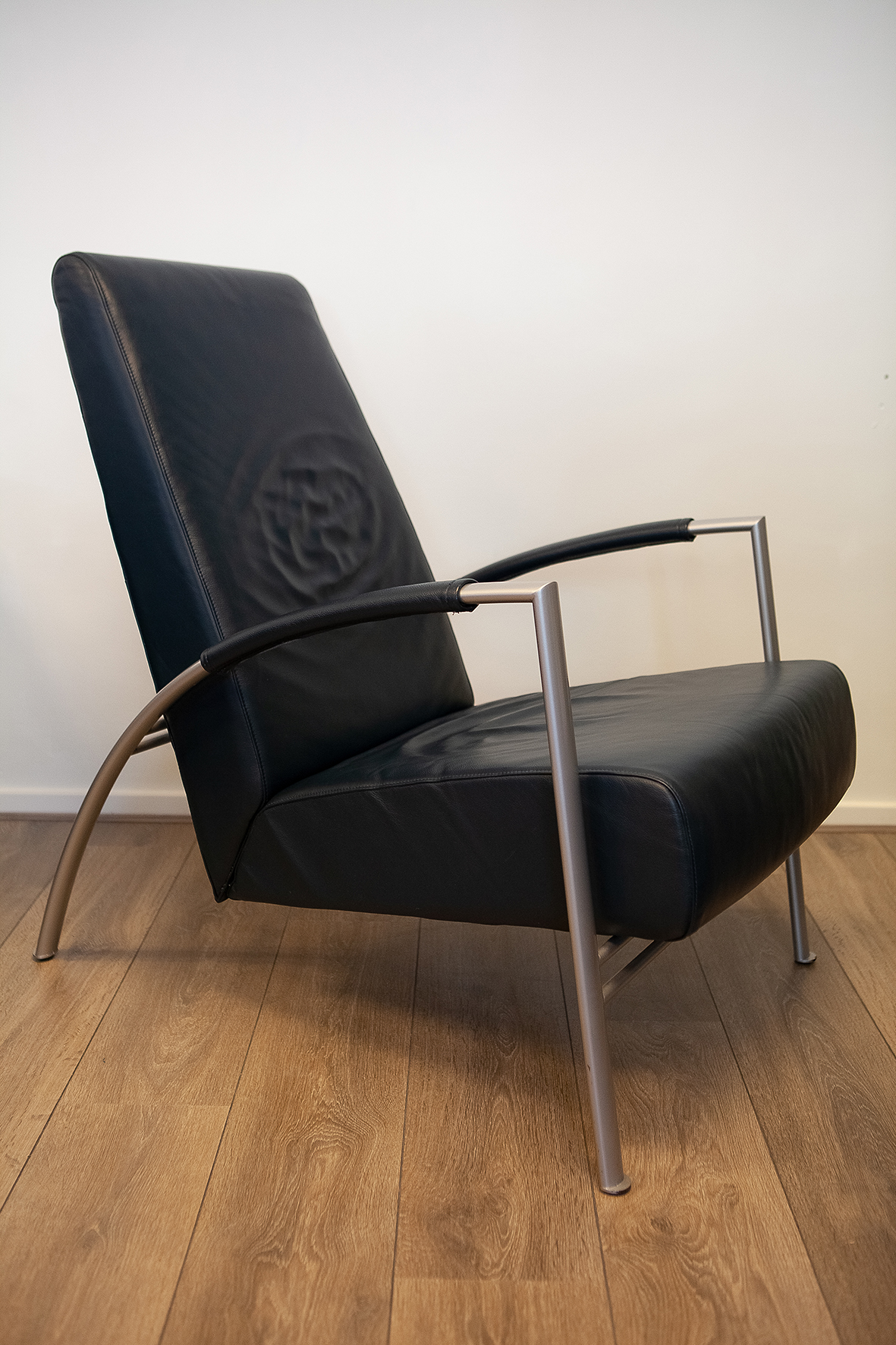 Harvink Design Fauteuil.2 Fraaie Harvink De Club Design Fauteuils In Blauw Leer Missing